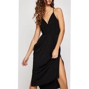 BCBG Faux-Wrap Midi Dress